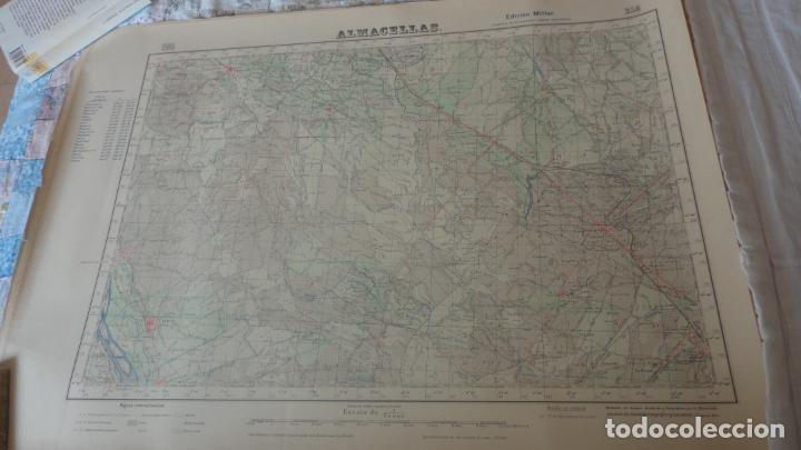 ANTIGUO MAPA.ALMACELLAS.LERIDA.EDICION MILITAR 1952 (Coleccionismo - Mapas - Mapas actuales (desde siglo XIX))