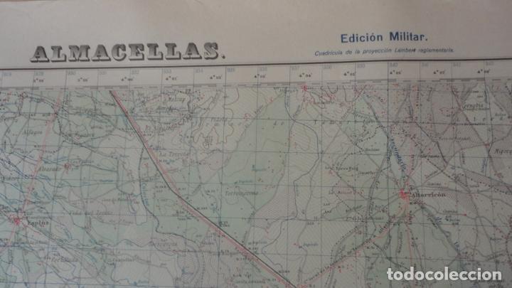 Mapas contemporáneos: ANTIGUO MAPA.ALMACELLAS.LERIDA.EDICION MILITAR 1952 - Foto 2 - 160623370