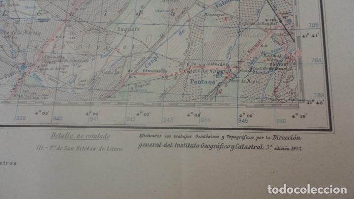 Mapas contemporáneos: ANTIGUO MAPA.ALMACELLAS.LERIDA.EDICION MILITAR 1952 - Foto 3 - 160623370