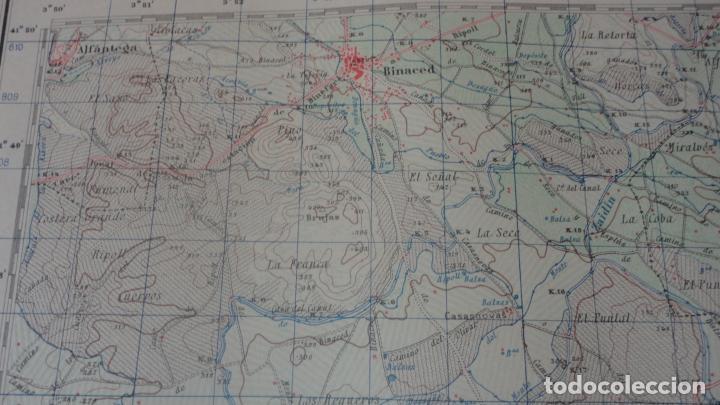 Mapas contemporáneos: ANTIGUO MAPA.ALMACELLAS.LERIDA.EDICION MILITAR 1952 - Foto 6 - 160623370