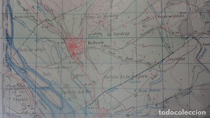 Mapas contemporáneos: ANTIGUO MAPA.ALMACELLAS.LERIDA.EDICION MILITAR 1952 - Foto 7 - 160623370