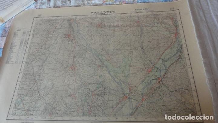 ANTIGUO MAPA.BALAGUER.LERIDA EDICION MILITAR 1953 (Coleccionismo - Mapas - Mapas actuales (desde siglo XIX))