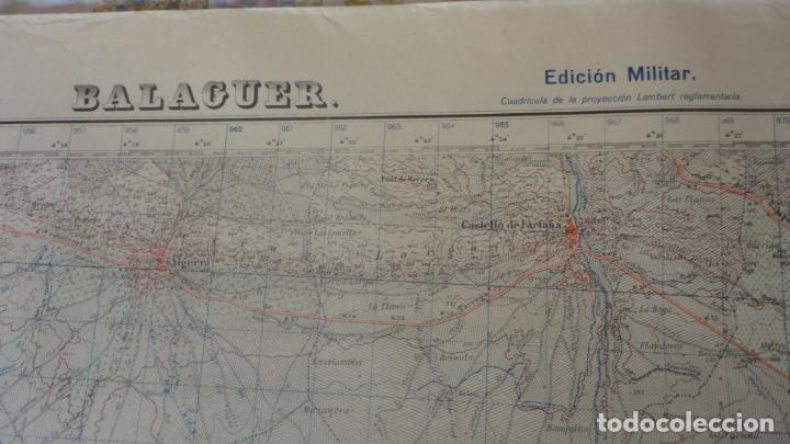 Mapas contemporáneos: ANTIGUO MAPA.BALAGUER.LERIDA EDICION MILITAR 1953 - Foto 2 - 160623830