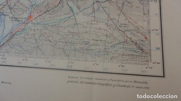 Mapas contemporáneos: ANTIGUO MAPA.BALAGUER.LERIDA EDICION MILITAR 1953 - Foto 3 - 160623830