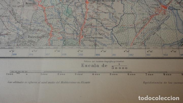 Mapas contemporáneos: ANTIGUO MAPA.BALAGUER.LERIDA EDICION MILITAR 1953 - Foto 4 - 160623830