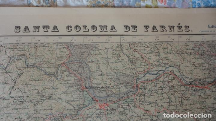 Mapas contemporáneos: ANTIGUO MAPA.SANTA COLOMA DE FARNES.GERONA EDICION MILITAR 1951 - Foto 2 - 160624274