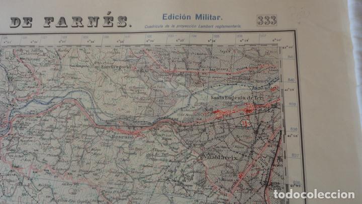 Mapas contemporáneos: ANTIGUO MAPA.SANTA COLOMA DE FARNES.GERONA EDICION MILITAR 1951 - Foto 3 - 160624274