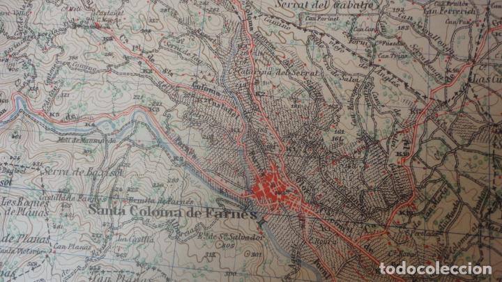 Mapas contemporáneos: ANTIGUO MAPA.SANTA COLOMA DE FARNES.GERONA EDICION MILITAR 1951 - Foto 6 - 160624274