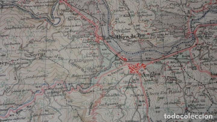 Mapas contemporáneos: ANTIGUO MAPA.SANTA COLOMA DE FARNES.GERONA EDICION MILITAR 1951 - Foto 7 - 160624274