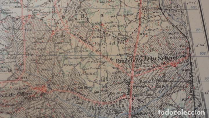Mapas contemporáneos: ANTIGUO MAPA.SANTA COLOMA DE FARNES.GERONA EDICION MILITAR 1951 - Foto 8 - 160624274