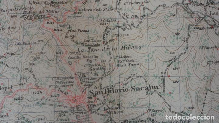 Mapas contemporáneos: ANTIGUO MAPA.SANTA COLOMA DE FARNES.GERONA EDICION MILITAR 1951 - Foto 9 - 160624274