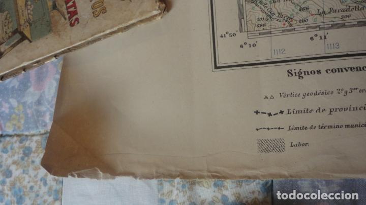 Mapas contemporáneos: ANTIGUO MAPA.SANTA COLOMA DE FARNES.GERONA EDICION MILITAR 1951 - Foto 10 - 160624274