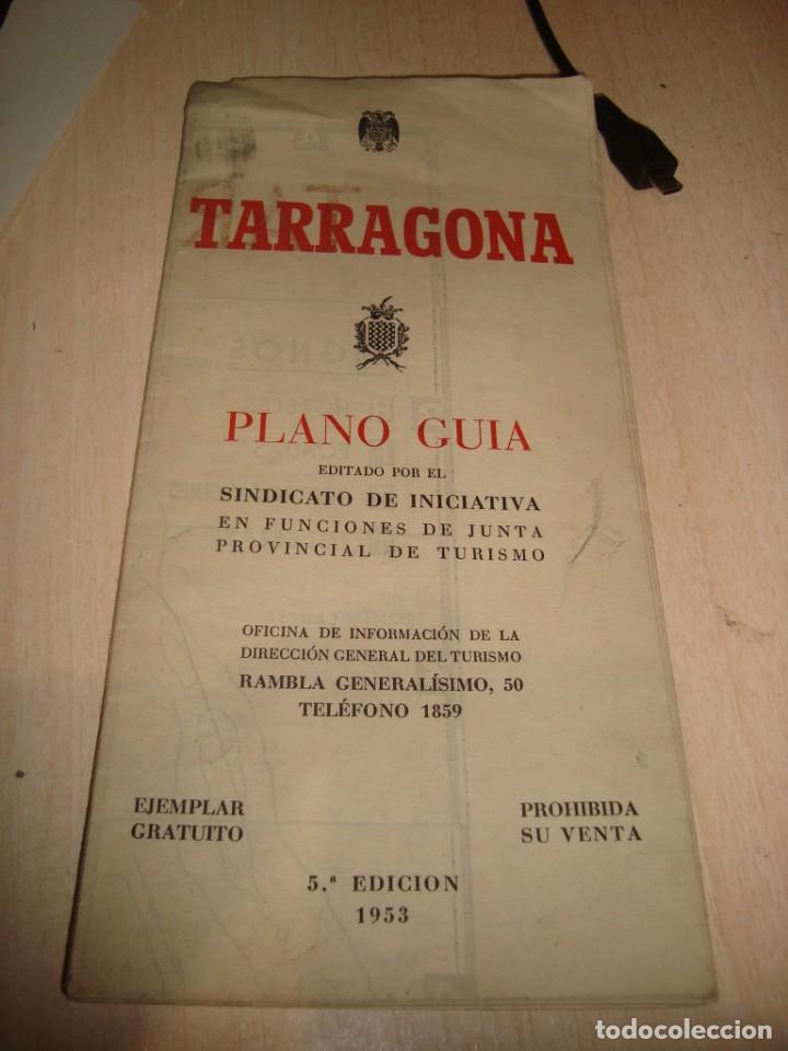 PLANO GUIA DE TARRAGONA AÑO 1953 (Coleccionismo - Mapas - Mapas actuales (desde siglo XIX))