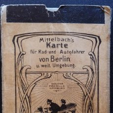 Mapas contemporáneos: ANTIGUO Y RARO MAPA DE BERLÍN, 1901, MUY RARO. Lote 160782530