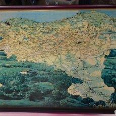 Mapas contemporáneos: MAPA EUSKADI ENMARCADO.79X70. Lote 160800344