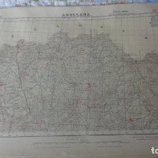 Mapas contemporáneos: ANTIGUO MAPA EDICION MILITAR AGULLANA.GERONA 1950. Lote 161610318
