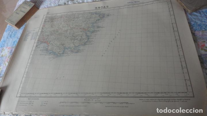 ANTIGUO MAPA EDICION MILITAR ROSAS.GERONA 1950 (Coleccionismo - Mapas - Mapas actuales (desde siglo XIX))