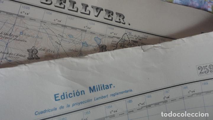 Mapas contemporáneos: ANTIGUO MAPA EDICION MILITAR ROSAS.GERONA 1950 - Foto 6 - 161610914