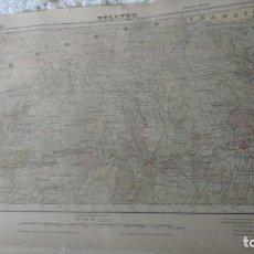 Mapas contemporáneos: ANTIGUO MAPA EDICION MILITAR BELLVER.LERIDA 1951. Lote 161611158