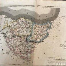 Mapas contemporáneos: MAPA COLOREADO DE LAS PROVINCIAS VASCONGADAS. AÑO 1846 35X51 CM.. Lote 161794634