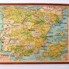 Mapas contemporáneos: MAPA DE ESCUELA SOBRE TELA AÑOS 20. Lote 161912894