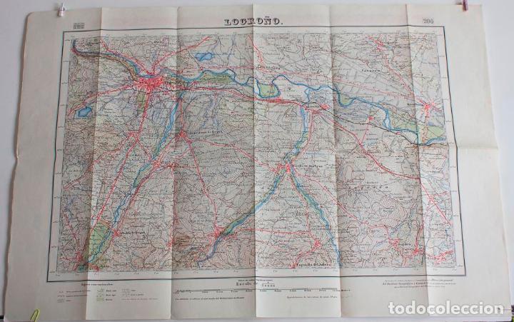 MAPA 1/50000 DE LOGROÑO. 2ª EDICION 1952. CUADRICULA 204 (Coleccionismo - Mapas - Mapas actuales (desde siglo XIX))