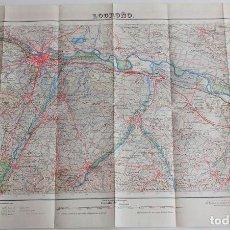 Mapas contemporáneos: MAPA 1/50000 DE LOGROÑO. 2ª EDICION 1952. CUADRICULA 204. Lote 161988750