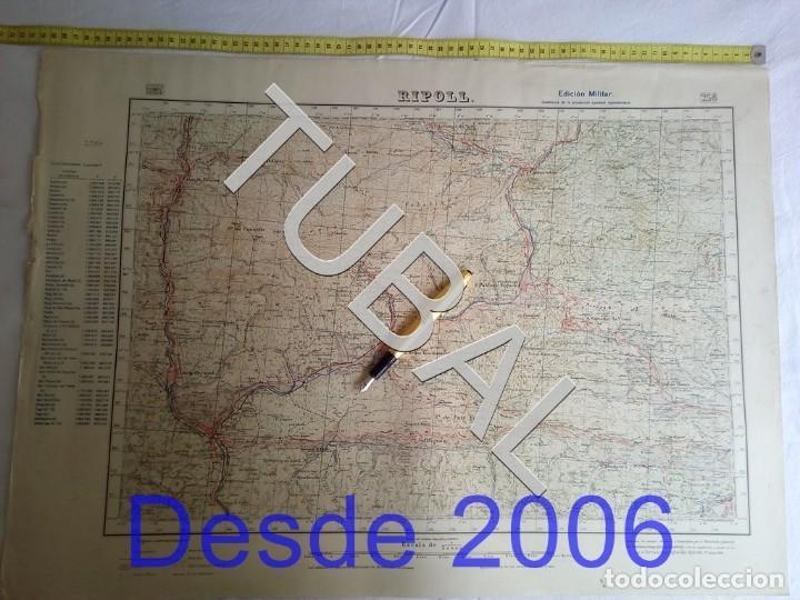 TUBAL RIPOLL MAPA MILITAR 1950 CARTOGRAFIA (Coleccionismo - Mapas - Mapas actuales (desde siglo XIX))