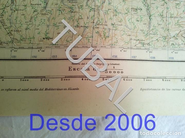 Mapas contemporáneos: TUBAL RIPOLL MAPA MILITAR 1950 CARTOGRAFIA - Foto 4 - 162407330