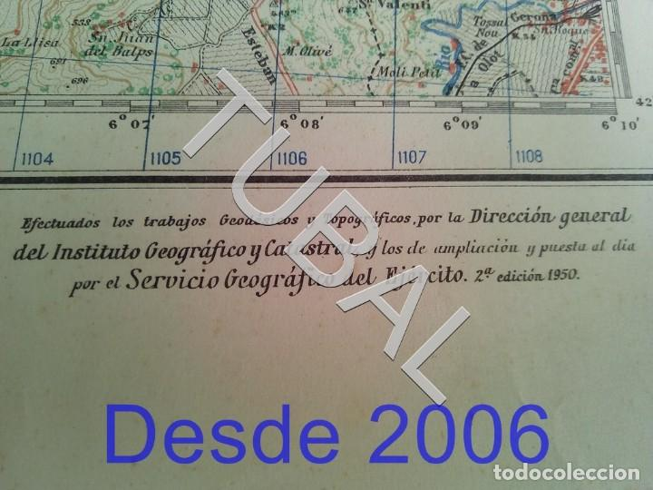 Mapas contemporáneos: TUBAL RIPOLL MAPA MILITAR 1950 CARTOGRAFIA - Foto 5 - 162407330