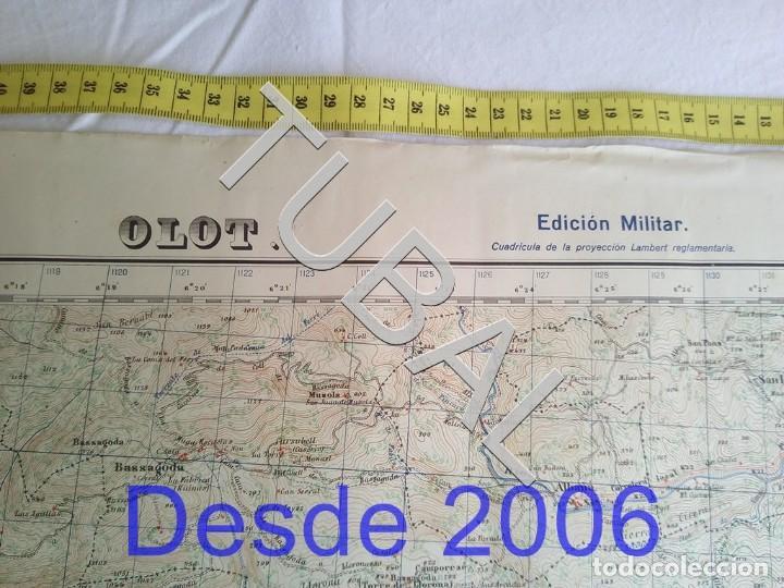 Mapas contemporáneos: TUBAL OLOT MAPA MILITAR 1950 CARTOGRAFIA - Foto 3 - 162407650