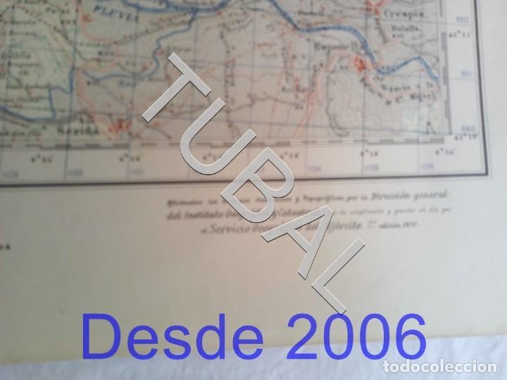 Mapas contemporáneos: TUBAL OLOT MAPA MILITAR 1950 CARTOGRAFIA - Foto 6 - 162407650
