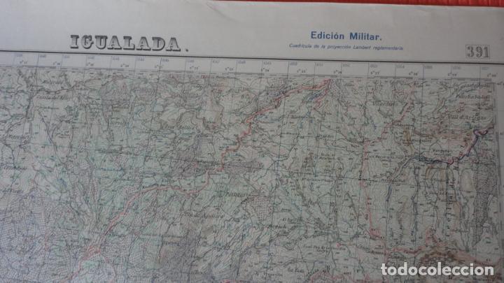 Mapas contemporáneos: ANTIGUO MAPA IGUALADA.BARCELONA EDICION MILITAR 1950 - Foto 2 - 162682118