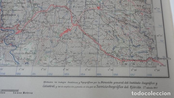 Mapas contemporáneos: ANTIGUO MAPA IGUALADA.BARCELONA EDICION MILITAR 1950 - Foto 3 - 162682118