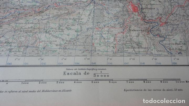 Mapas contemporáneos: ANTIGUO MAPA IGUALADA.BARCELONA EDICION MILITAR 1950 - Foto 4 - 162682118