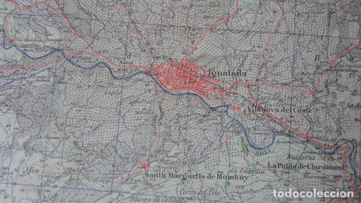 Mapas contemporáneos: ANTIGUO MAPA IGUALADA.BARCELONA EDICION MILITAR 1950 - Foto 5 - 162682118
