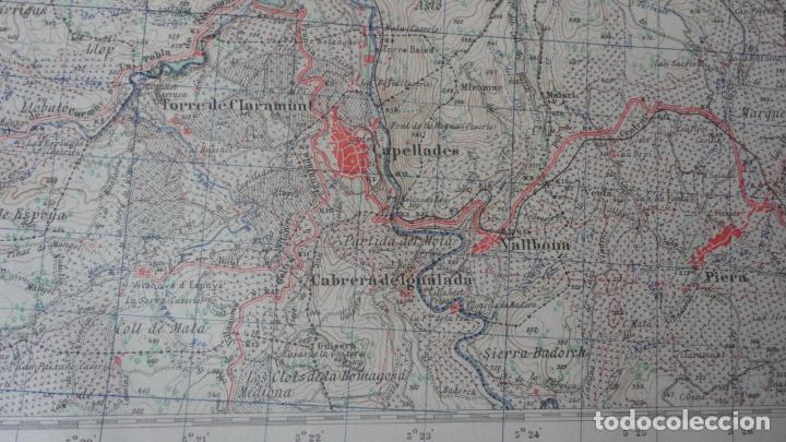 Mapas contemporáneos: ANTIGUO MAPA IGUALADA.BARCELONA EDICION MILITAR 1950 - Foto 6 - 162682118