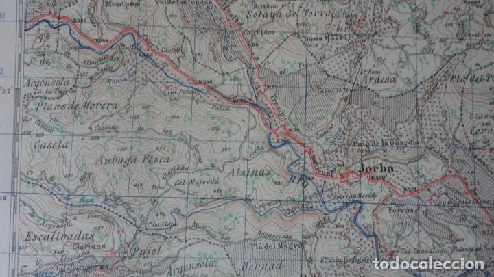 Mapas contemporáneos: ANTIGUO MAPA IGUALADA.BARCELONA EDICION MILITAR 1950 - Foto 7 - 162682118
