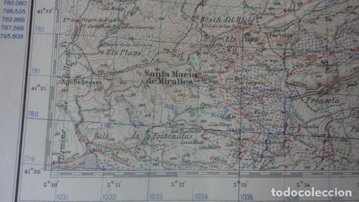 Mapas contemporáneos: ANTIGUO MAPA IGUALADA.BARCELONA EDICION MILITAR 1950 - Foto 8 - 162682118