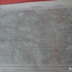 Mapas contemporáneos: ANTIGUO MAPA CERVERA.LERIDA EDICION MILITAR 1950. Lote 162682654