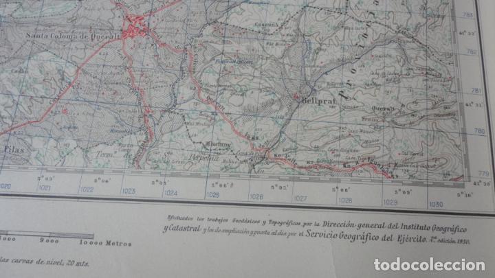Mapas contemporáneos: ANTIGUO MAPA CERVERA.LERIDA EDICION MILITAR 1950 - Foto 3 - 162682654