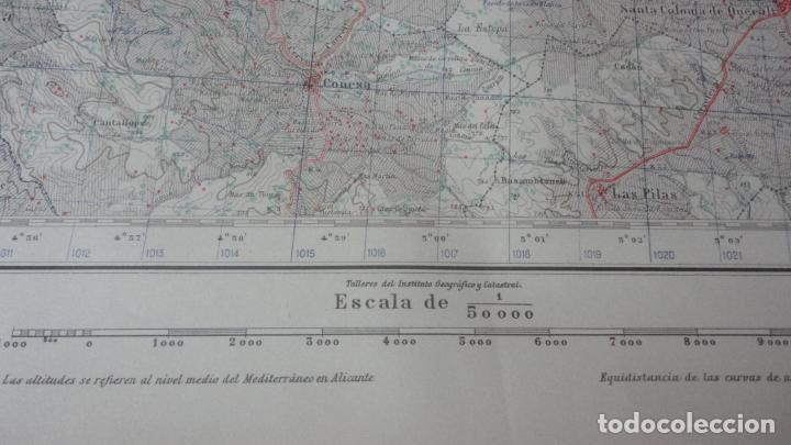 Mapas contemporáneos: ANTIGUO MAPA CERVERA.LERIDA EDICION MILITAR 1950 - Foto 4 - 162682654
