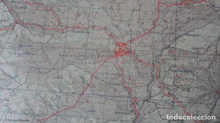 Mapas contemporáneos: ANTIGUO MAPA CERVERA.LERIDA EDICION MILITAR 1950 - Foto 5 - 162682654