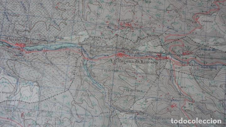 Mapas contemporáneos: ANTIGUO MAPA CERVERA.LERIDA EDICION MILITAR 1950 - Foto 6 - 162682654