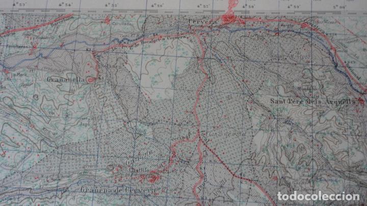 Mapas contemporáneos: ANTIGUO MAPA CERVERA.LERIDA EDICION MILITAR 1950 - Foto 7 - 162682654