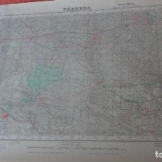 Mapas contemporáneos: ANTIGUO MAPA TARREGA.LERIDA EDICION MILITAR 1950. Lote 162683038