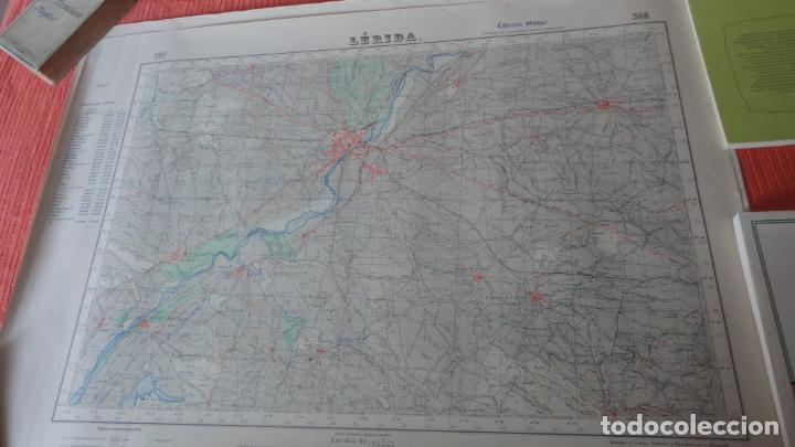 ANTIGUO MAPA LERIDA.EDICION MILITAR 1950 (Coleccionismo - Mapas - Mapas actuales (desde siglo XIX))
