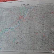 Mapas contemporáneos: ANTIGUO MAPA LERIDA.EDICION MILITAR 1950. Lote 162683406
