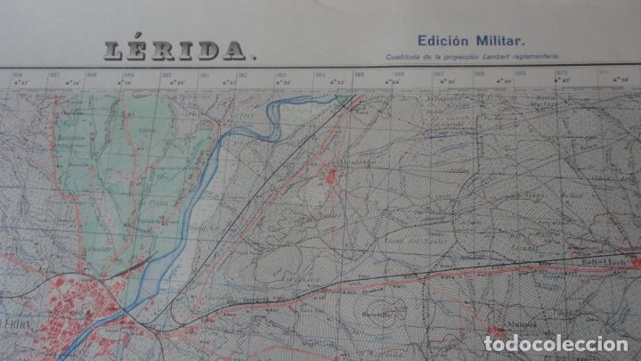 Mapas contemporáneos: ANTIGUO MAPA LERIDA.EDICION MILITAR 1950 - Foto 2 - 162683406