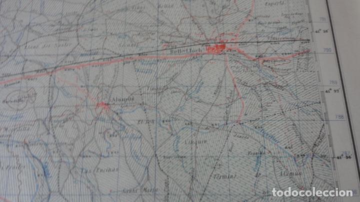 Mapas contemporáneos: ANTIGUO MAPA LERIDA.EDICION MILITAR 1950 - Foto 4 - 162683406